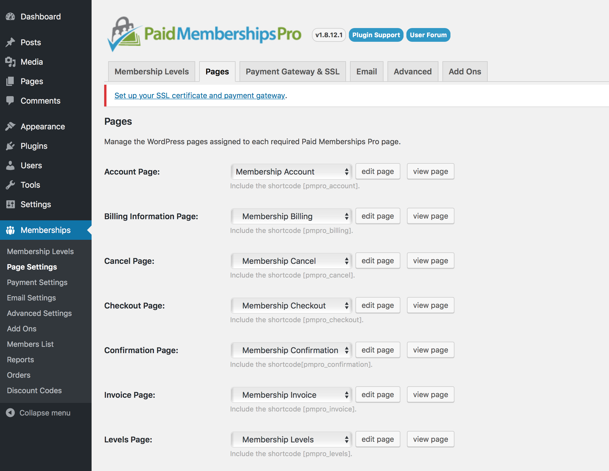 PMP Membership Pages Generation
