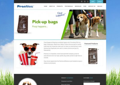 Dog Waste Solutions eCommerce / Membership Website