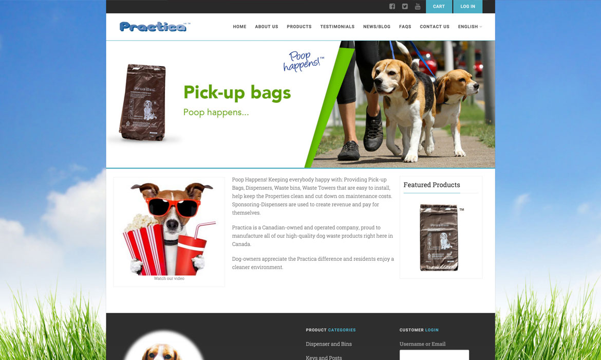 eCommerce / Membership Website selling dog waste solutions in GTA